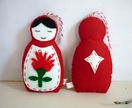Pohutukawa Russian Doll Christmas Decoration