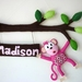 Cheeky Little Monkey - Personalised Bedroom Door or Wall Art