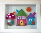 Rainbow Cottages - 3D Felt Picture