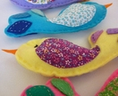 Rainbow Birds - Funky Felt Mobile