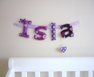 Personalised Padded Name Banner - 4 letter name