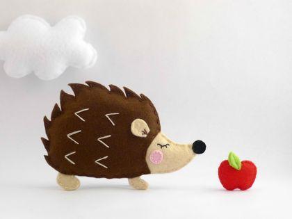 Sewing Pattern - Woodland Animal Set - Includes Fox, Squirrel, Owl, Hedgehog, Tree, Mushroom, Apple