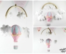 Baby Mobile - Baby Shower Gift - New Baby - Cot Mobile - Hot Air Balloon Baby Mobile - Ready to send - Sweet Petite Baby Mobile