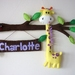 Gertie the Giggling Giraffe - Personalised Door Sign or Wall Art