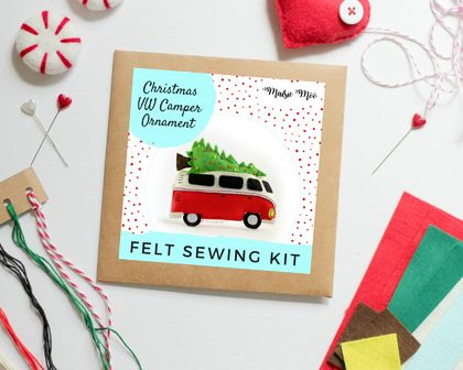 Felt Sewing Kit - VW Camper Ornament