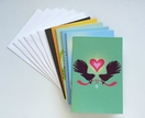 6 Beautifully, bright and colourful Greetings cards with New Zealand Native birds
