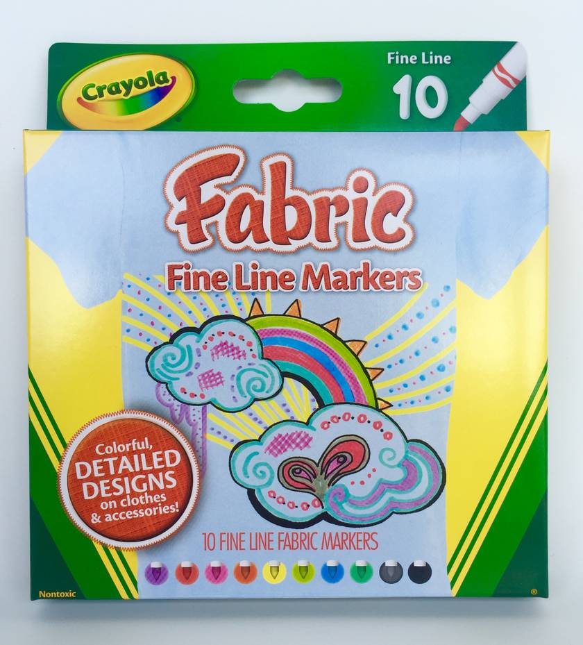 how to use crayola fabric markers