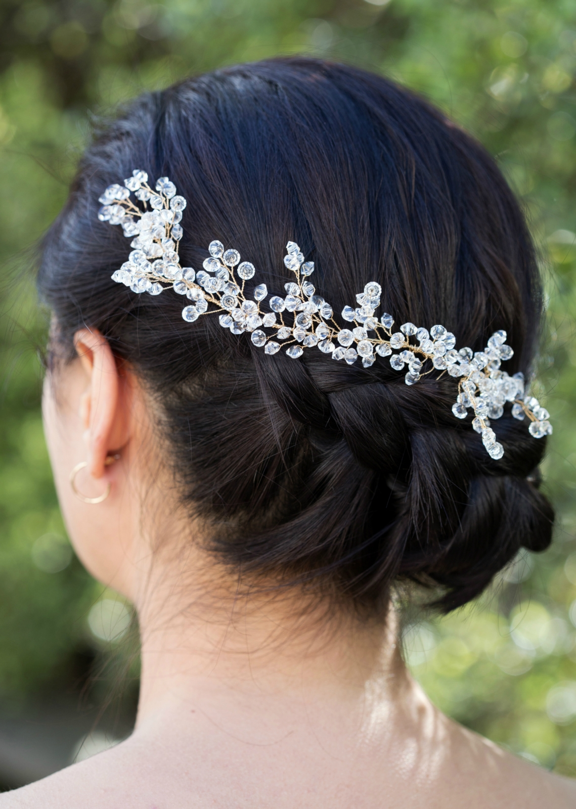 Preciosa Crystal Bridal Hair Vine. Wedding Hair Accessory. Clear Crystal Hair Piece. | Felt
