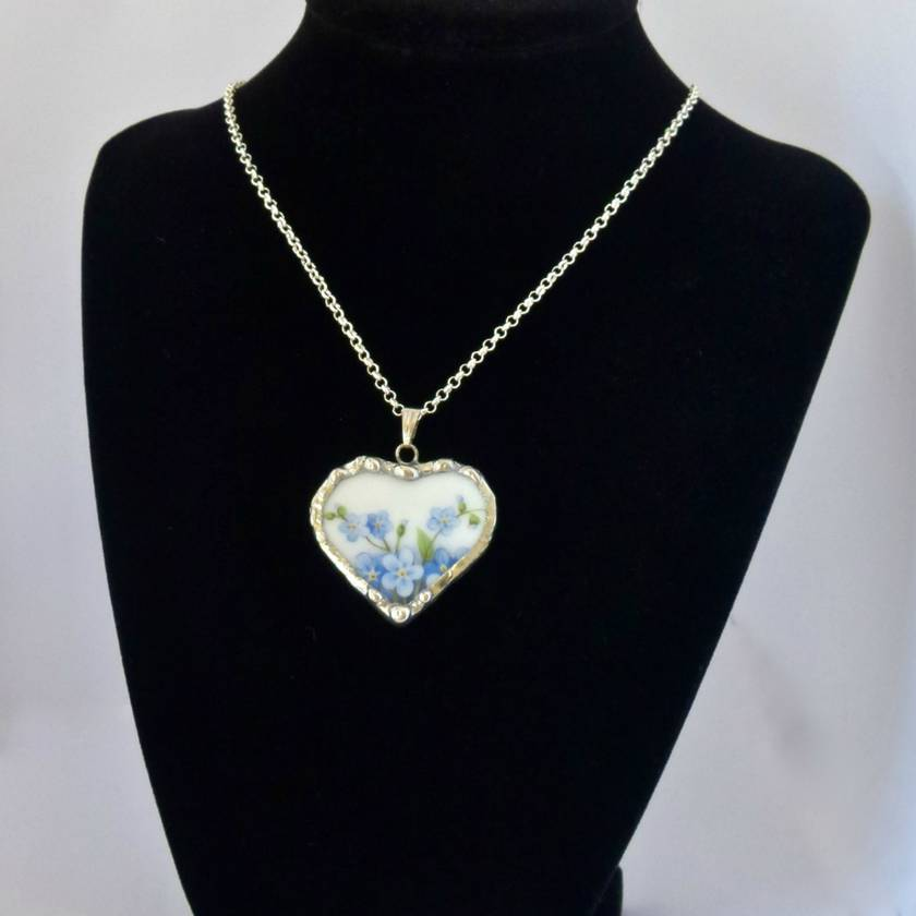 Forget-Me-Not Heart Pendant