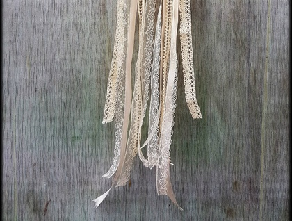 Shabby Chic Ecru Dreamcatcher - Medium