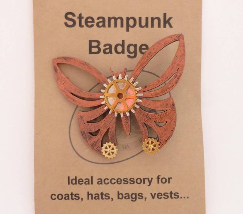 Steampunk Butterfly Pins
