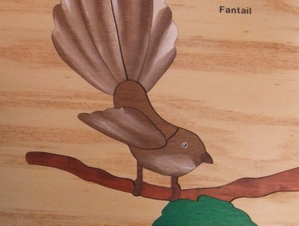 FANTAIL 10 Pce Wooden Handcrafted Puzzle