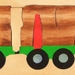 LOGGING TRUCK 25pces  handcrafted wooden puzzle