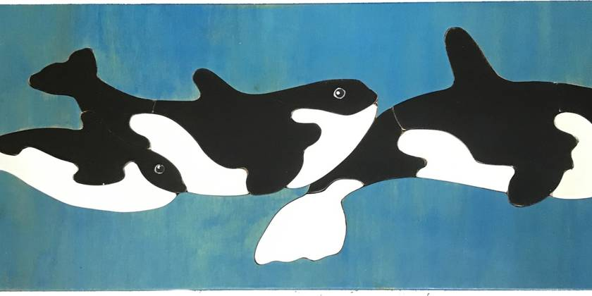 Orcas 12pc Wooden Handcrafted Puzzle