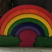 RAINBOW PLAYSCAPE 9pce handcrafted wooden puzzle