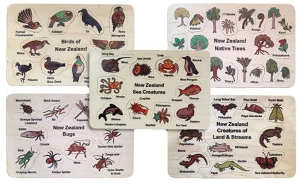 NZ Natural World 5 puzzle set