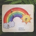 Te Reo Rainbow with knobs 4pc Wooden Puzzle