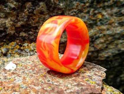 Resin Ring *The Phoenix* Size USA 10 or UK/AUS T 1/2  *Free Shipping*