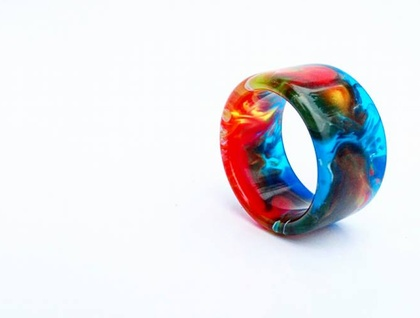 Resin Ring *Element of Life* Size USA 12 or UK/AUS Y  *Free Shipping*