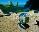 Resin & Wood Ring *Pacific* Size USA 11  UK/AUS V 1/2 *Free Shipping*