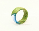 Resin & Wood Ring *Pacific* Size USA 13 UK/AUS Z+1 *Free Shipping*