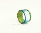 Resin & Wood Ring *Pacific* Size USA 12 1/2  UK/AUS Z  *Free Shipping*
