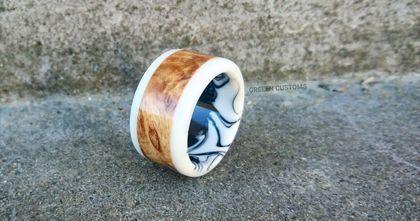 Resin & Wood Ring *3One Fatwood* Size Y or USA 12 *Free Shipping*