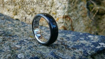Stainless Carbon Ring *Made to order*