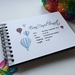 GUEST BOOK, ALBUM - A5 - BLUE BALLOONS - customise your details!