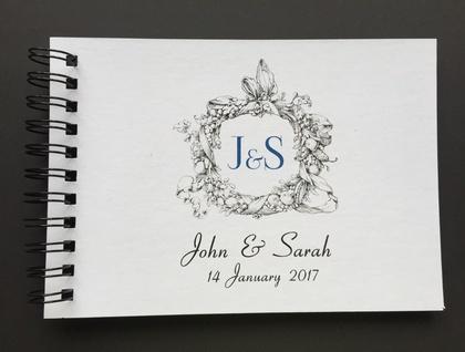 GUEST BOOK, ALBUM - A5 - WEDDING WREATH - customise your details!