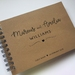 GUEST BOOK, ALBUM - A5 - NAMES ON KRAFT - customise your details!