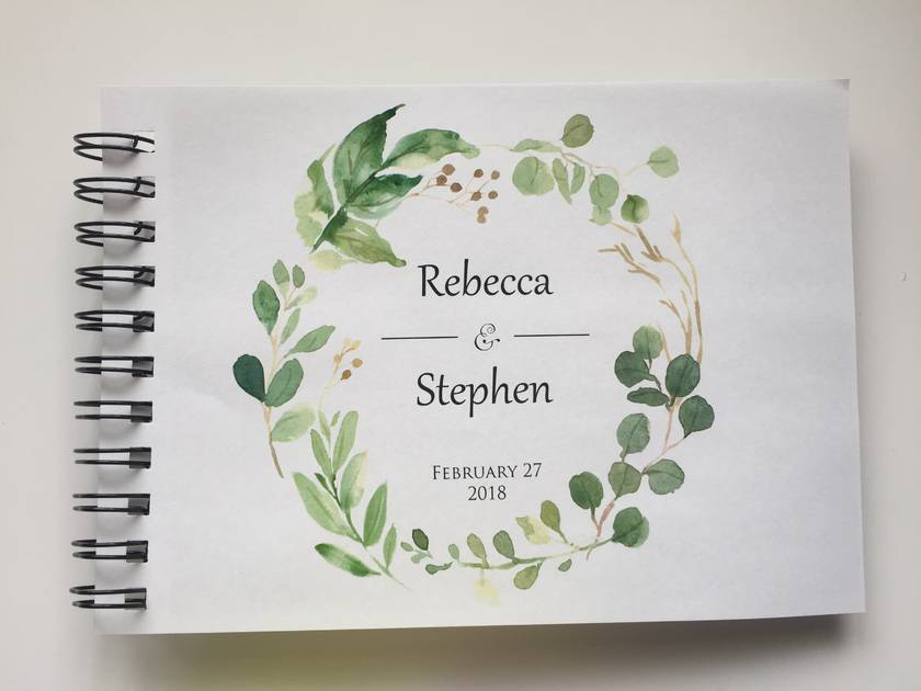 Listing for tessangarita - GUEST BOOK, ALBUM - A5 - FOREST WREATH