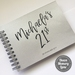 GUEST BOOK, ALBUM - A5 - BIRTHDAY FUNKY NAME ON SILVER