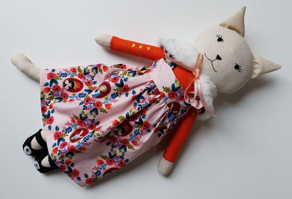 Rag Doll Cat in Dress, Cat Doll named Maxine