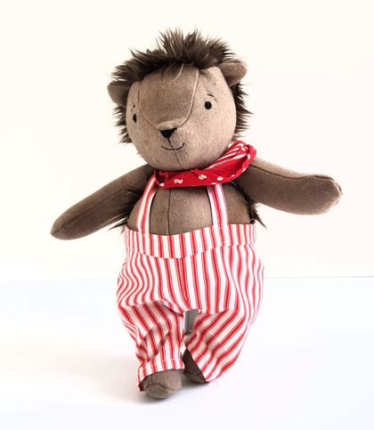 Hedgehog Doll with Clothes, named Alfie
