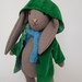 wool cloth bunny with coat