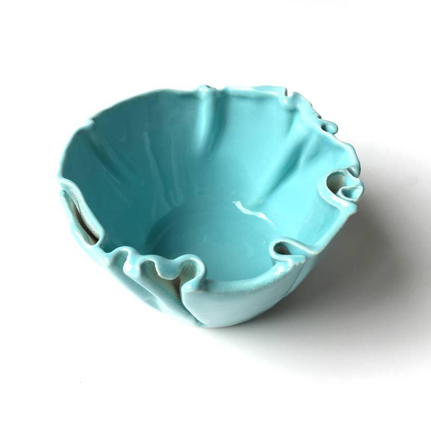 Small Wrinkled Ceramic Bowl