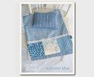 """Summer Blue"" Doll Bedding Set"