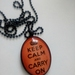 Keep calm pendant and chain