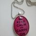 Keep calm pendant and chain