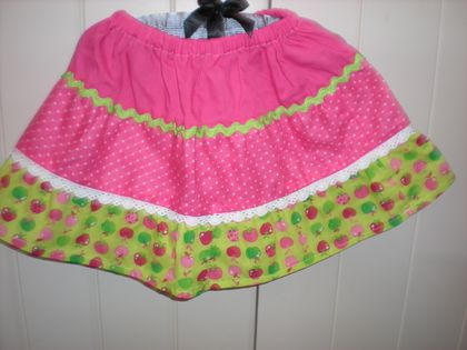 girls three tiered skirts