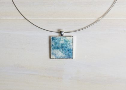 Pacific Waters Fibre Art Pendant