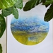 """A4 Round Giclée fine art print of Original Fibre Art """"Coromandel"""""""