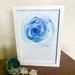 """""""Blue Geode"""" FRAMED Fibre Art Print"""