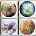 """Pack of 4 Fibre Art Greetings Cards, """"Lilies"""""""