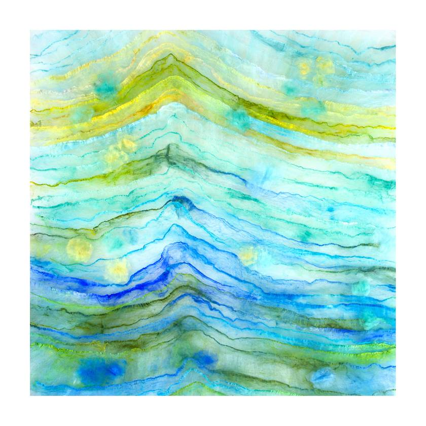 """Geological Dreamscape #2"" Fibre Art Print 60 x 60cm"