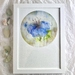 "A4 Giclée fine art print of Original Fibre Art ""Blue Hibiscus"""