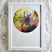 """A4 Giclée fine art print of Original Fibre Art """"Lily 2"""""""