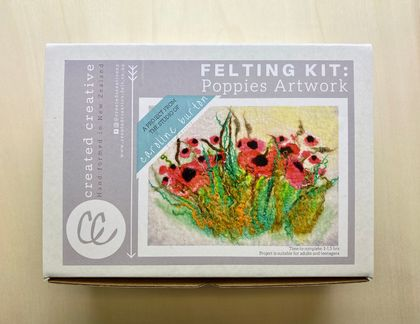 Poppies Artwork Felting Kit