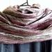 Merino and Silk Cobweb felted  Infinity Scarf / Cowl - Winterwarm double Loop Scarf
